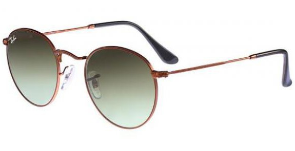 Lunettes de soleil RAY BAN RB 3447 ROUND METAL 9002A6