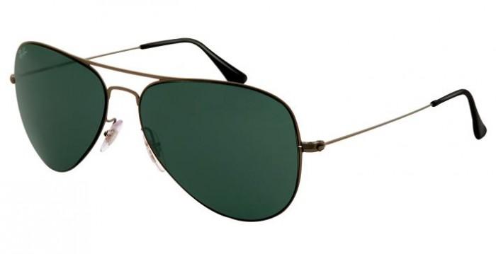 lunettes de soleil ray ban rb 3513 aviator flat metal 147 71. Black Bedroom Furniture Sets. Home Design Ideas